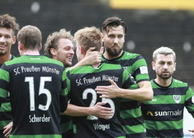 Preußen Münster gegen Sonnenhof Großaspach