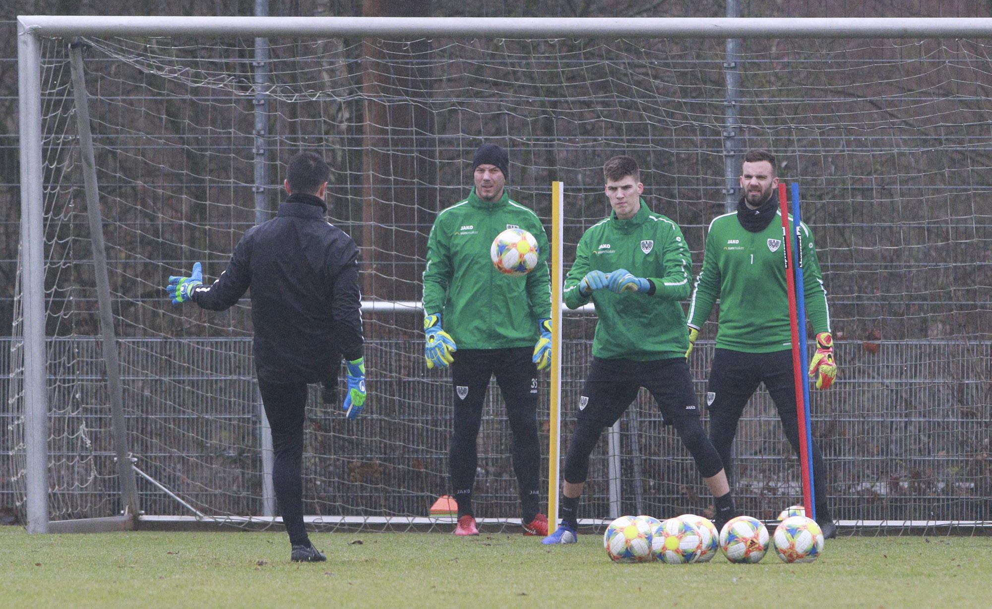 Trainingsauftakt bei Preußen Münster nach der Winterpause