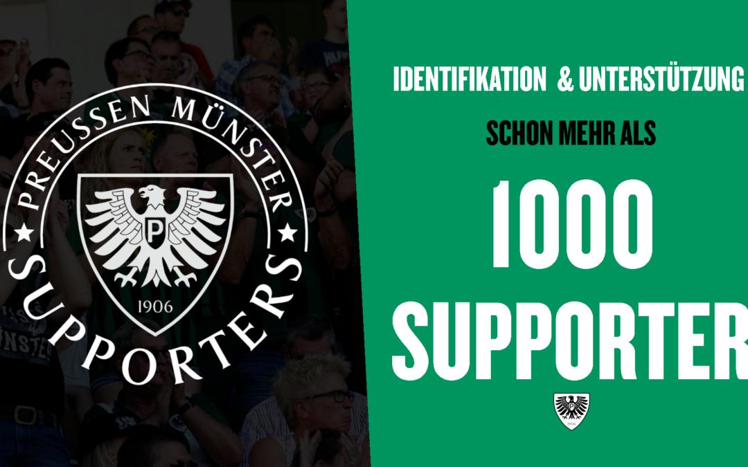 Supporters-Aktion knackt die 1000-Teilnehmer-Marke