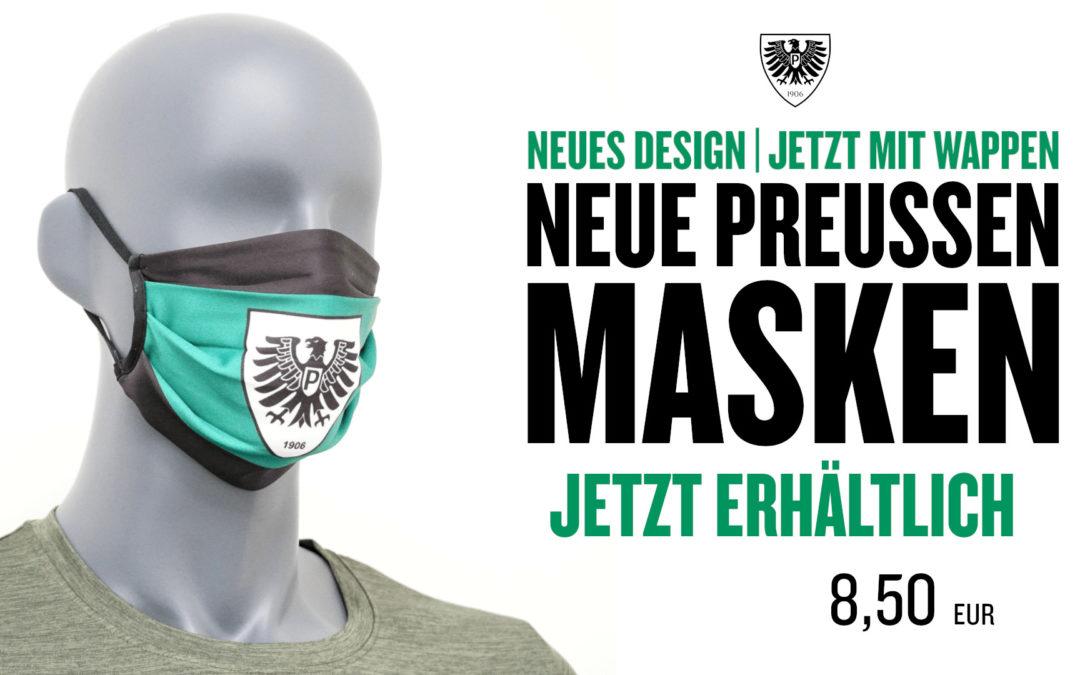 Neue Preußen-Masken im überarbeiteten Design ab sofort erhältlich