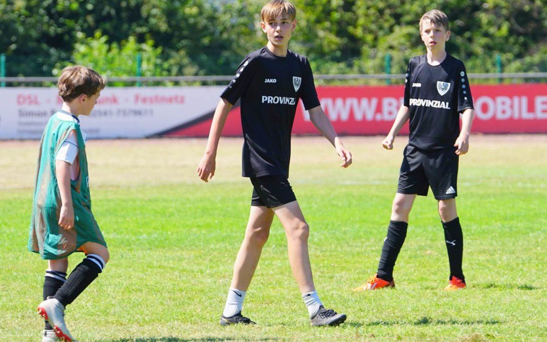 Fußball pur in den Ferien: Preußencamp durfte stattfinden