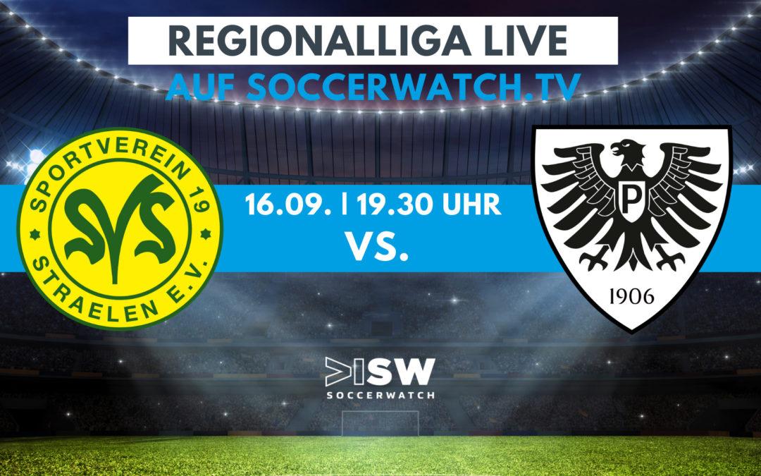 Heute LIVE: SV Straelen – Preußen Münster