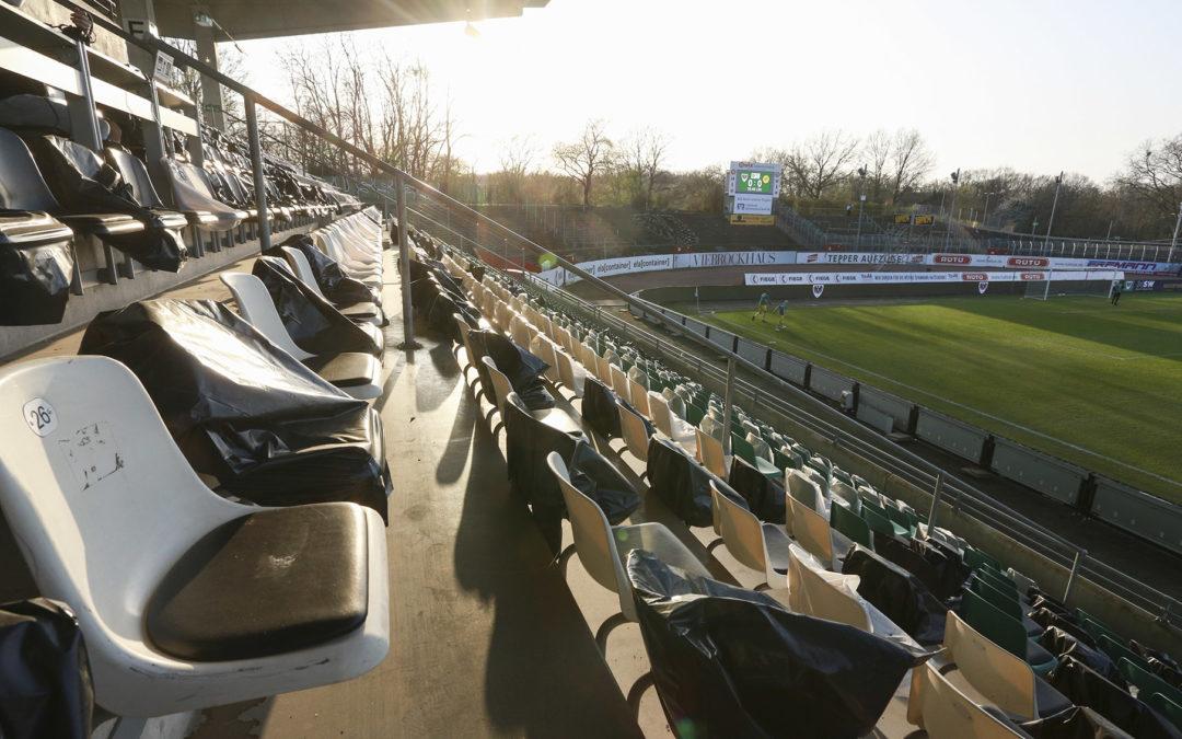Sonnige Bilder aus dem Preußenstadion