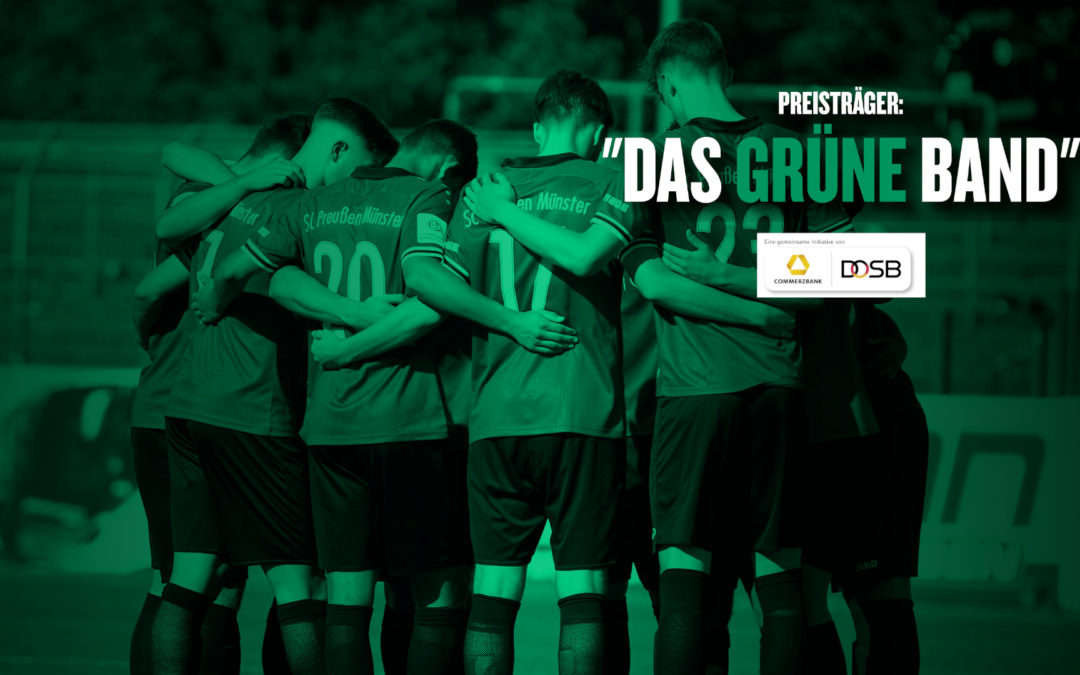 """Nachwuchsarbeit des SC Preußen mit dem """"Grünen Band"""" ausgezeichnet"""